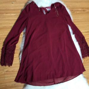 Umgee Cranberry tunic sz m